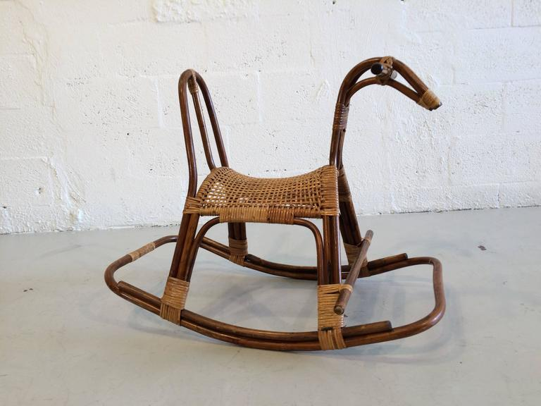 Swedish Childrens Rocking Horse Chair Rocker at 1stdibs