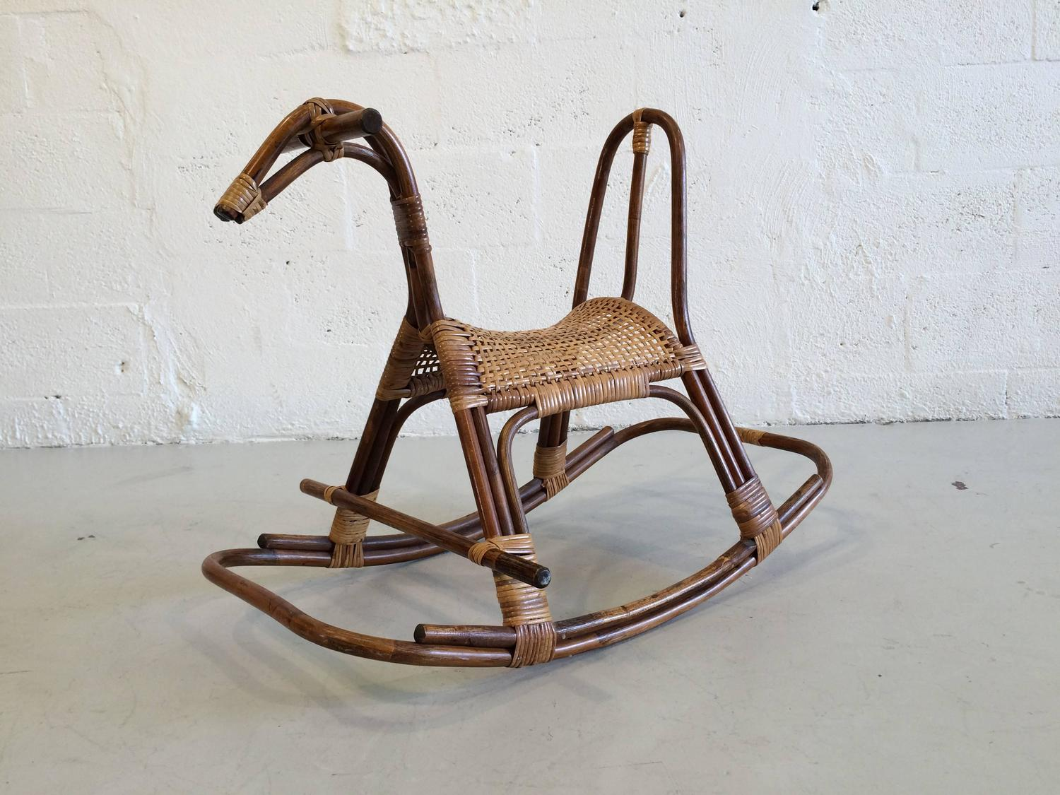 Swedish Childrenu0027s Rocking Horse Chair Rocker At 1stdibs