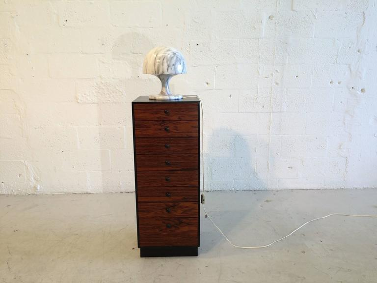 Nice marble table lamp, Italy, 1970s. Top comes off for easy exchange of bulb.