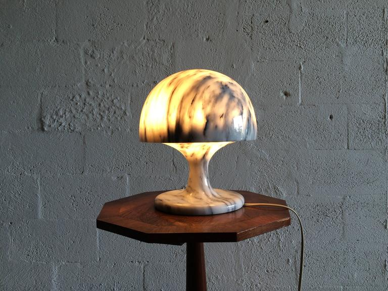 Mid-Century Modern Nice Marble Table Lamp, Italy, 1970s For Sale