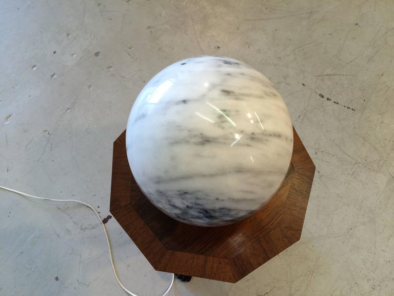 Italian Nice Marble Table Lamp, Italy, 1970s For Sale