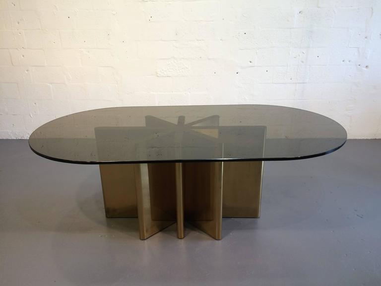 Very Well Made Bronze And Glass Dining Table. Seats Up To Eight People. The