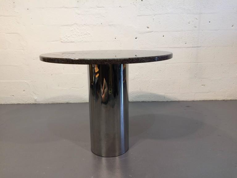 Stainless Steel And Granite Centre Table Or Dining Table For Sale At 1stdibs