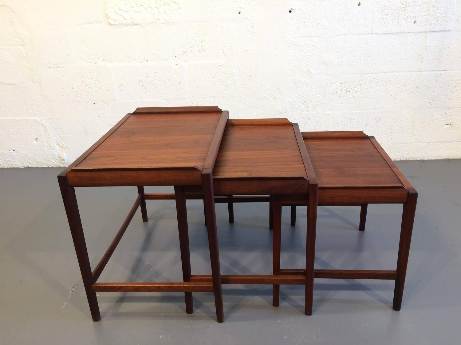 Mid century modern walnut nesting tables usa s for