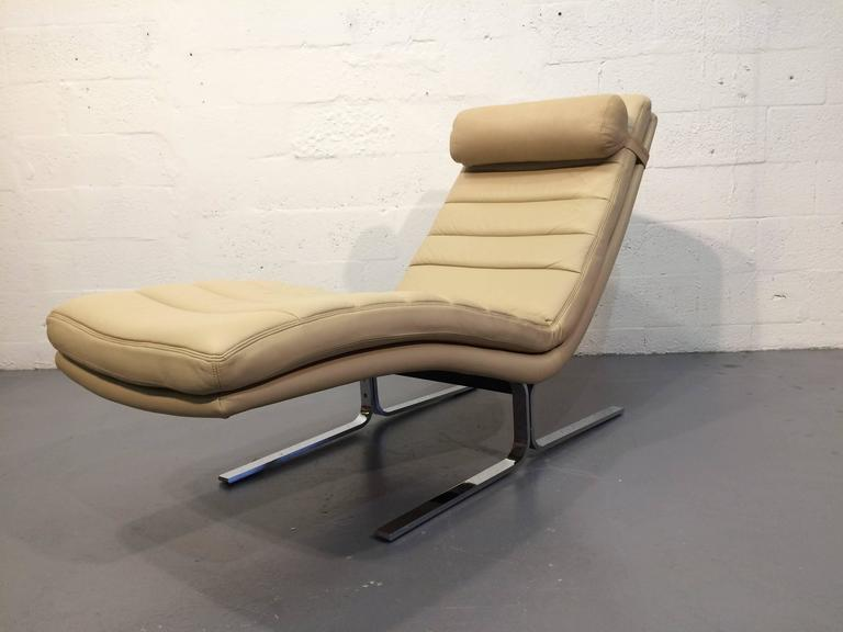 Leather Chaise Longue by Harvey Probber, USA, 1970s 2