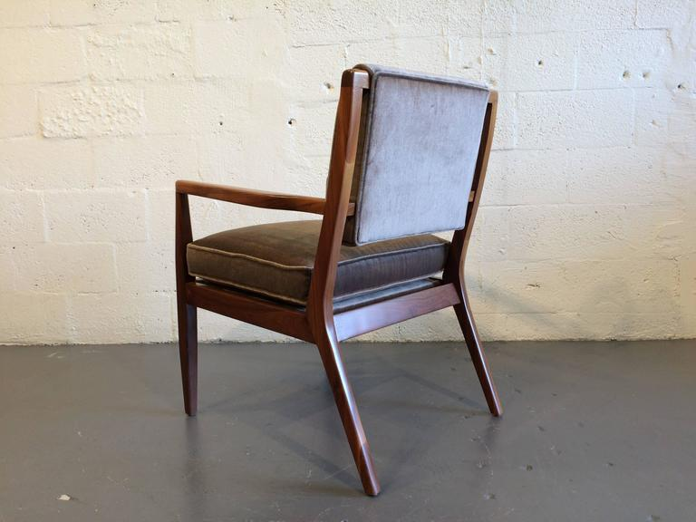 American Pair of Modern Walnut Armchairs, USA, 1950s For Sale