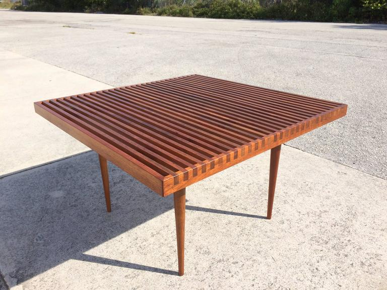 Beautiful Slat Coffee Table Usa 1950s At 1stdibs