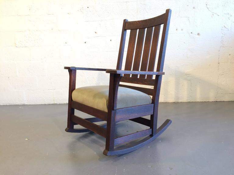 Fine Original Ljg Stickley Mission Rocking Chair Oak At 1Stdibs Creativecarmelina Interior Chair Design Creativecarmelinacom