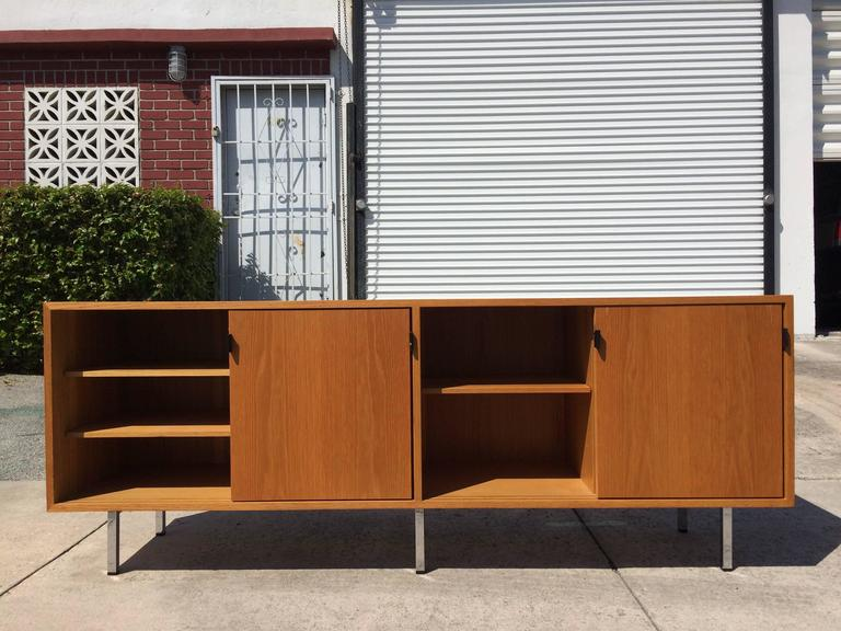Nice Florence Knoll Credenza on Chrome Legs, USA, 1970s In Good Condition In Opa Locka, FL