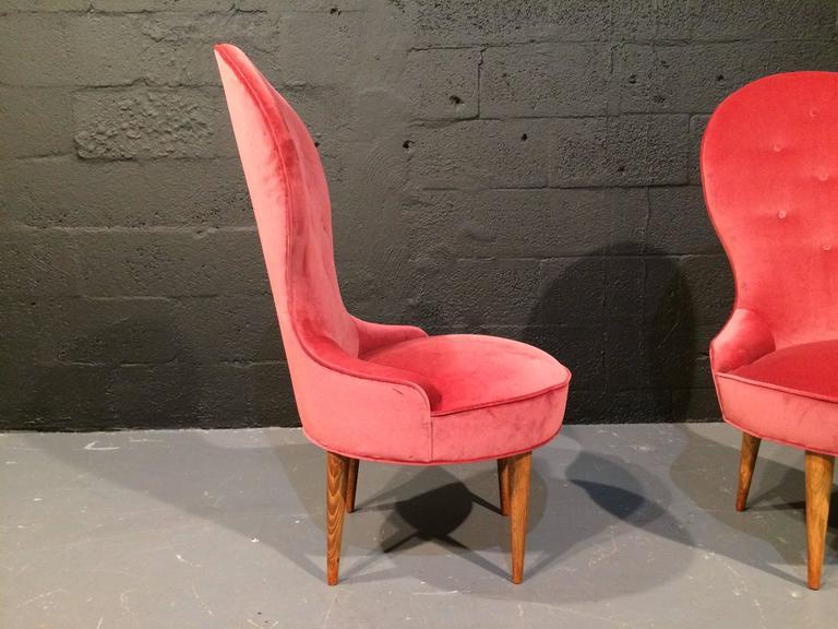 Swedish Petite Scandinavian Lounge Chairs, 1950s For Sale