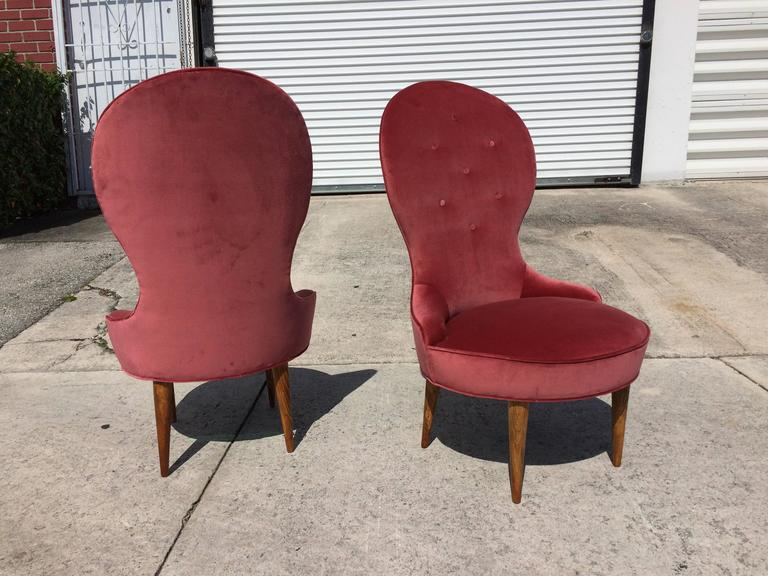 Petite Scandinavian Lounge Chairs, 1950s In Excellent Condition For Sale In Miami, FL