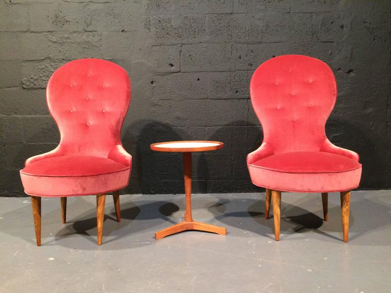 Mid-20th Century Petite Scandinavian Lounge Chairs, 1950s For Sale