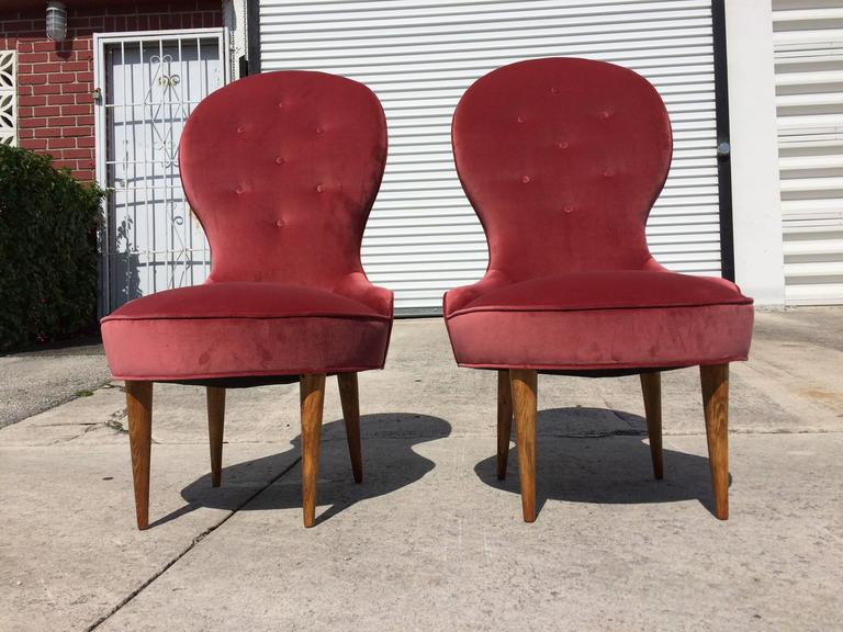 Petite Scandinavian Lounge Chairs, 1950s For Sale 1