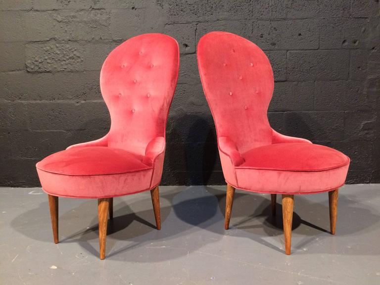 Petite Scandinavian Lounge Chairs, 1950s For Sale 2