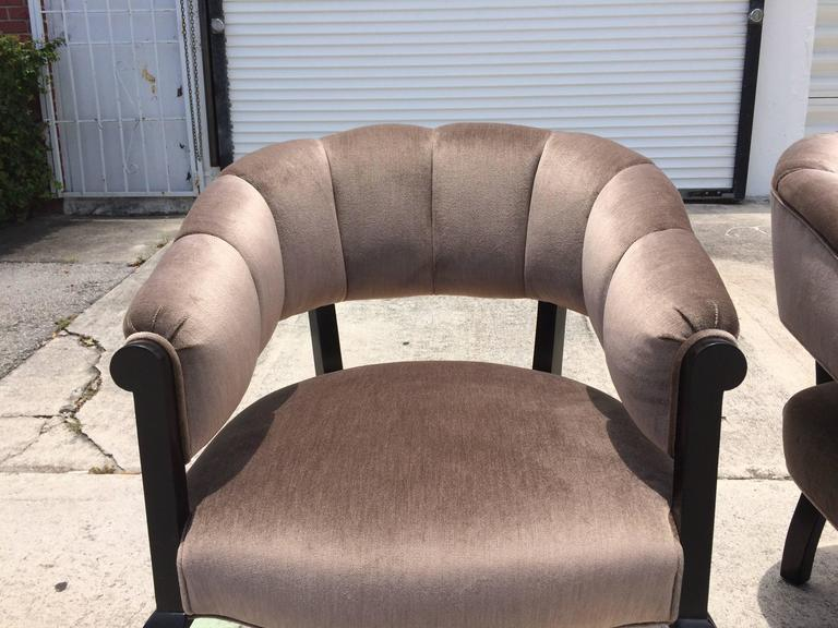 Beautiful Channel Back Chairs In Good Condition For Sale In Opa Locka, FL