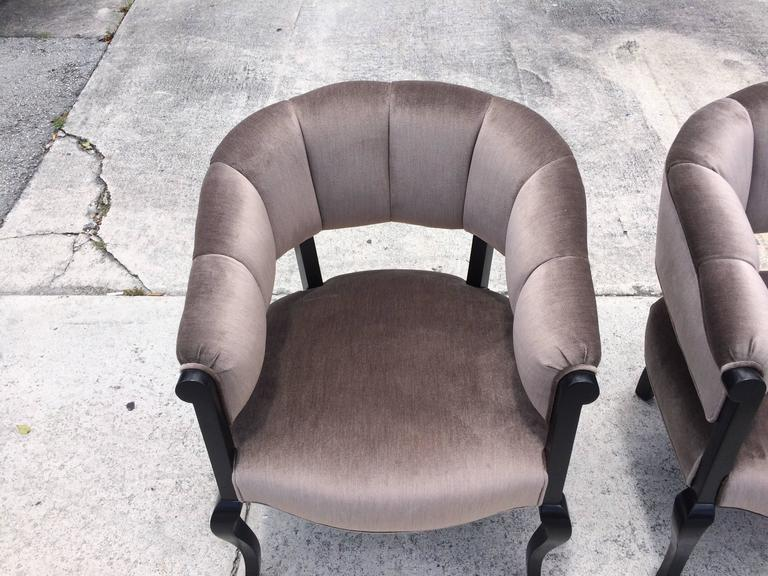 Fabric Beautiful Channel Back Chairs For Sale