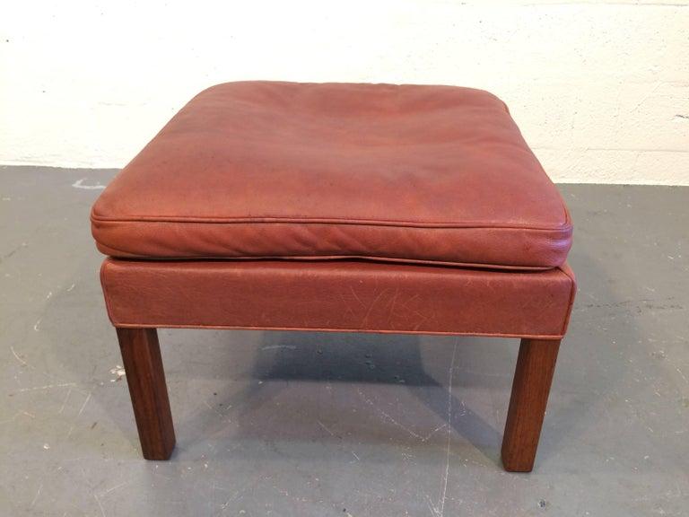 100% authentic 8c803 6e102 Beautiful Cognac Leather Ottoman by Børge Mogensen