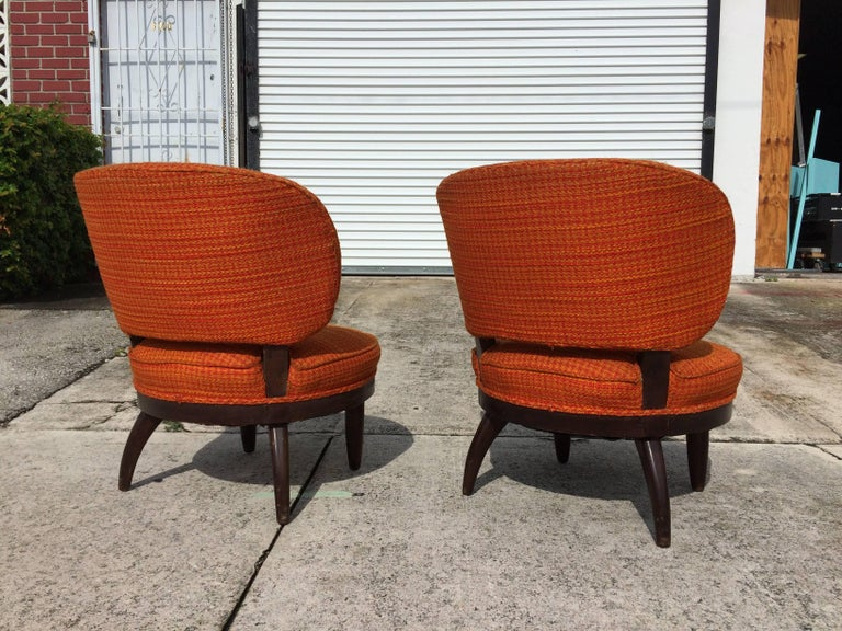 American Pair of Mid-Century Modern Lounge Chairs For Sale
