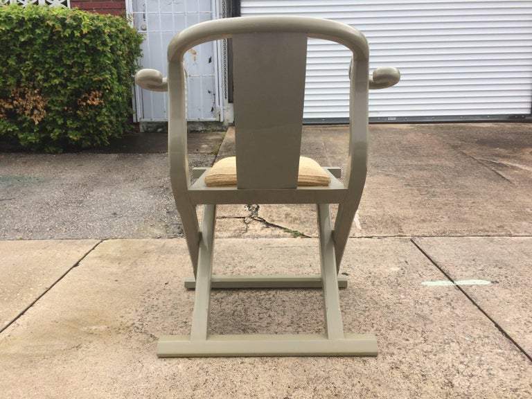 Fabric Decorative Side or Desk Chair For Sale