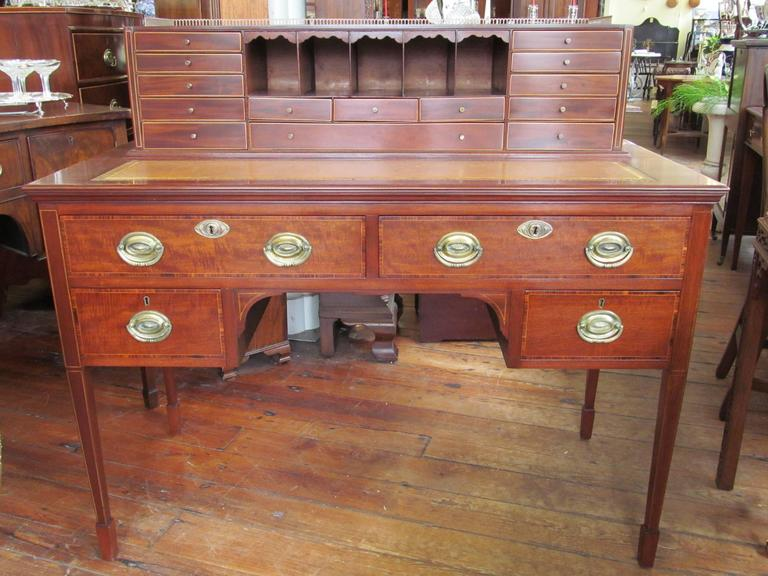 Antique English Mahogany Hepplewhite Style Writing Desk