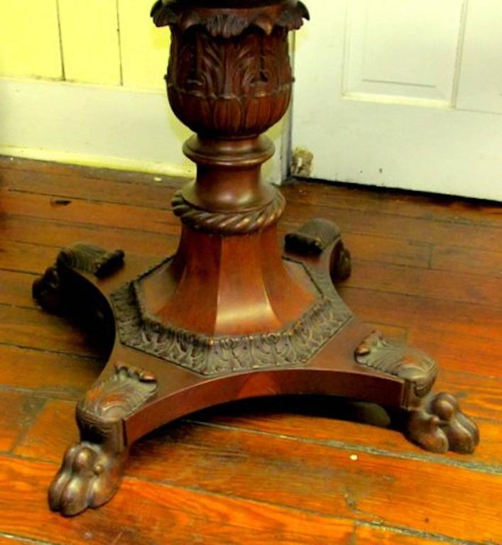 Antique American Empire Period Figured Flame Mahogany
