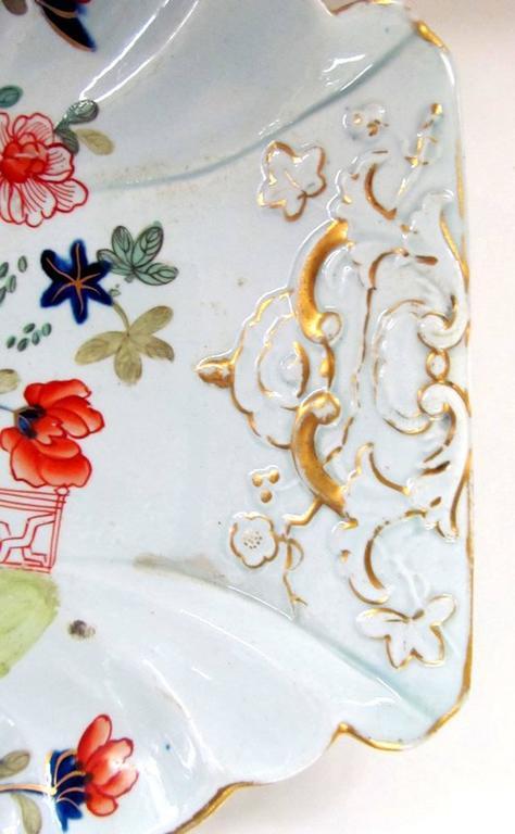 19th Century Early English Period Mason's Ironstone Imari Dessert Dish For Sale