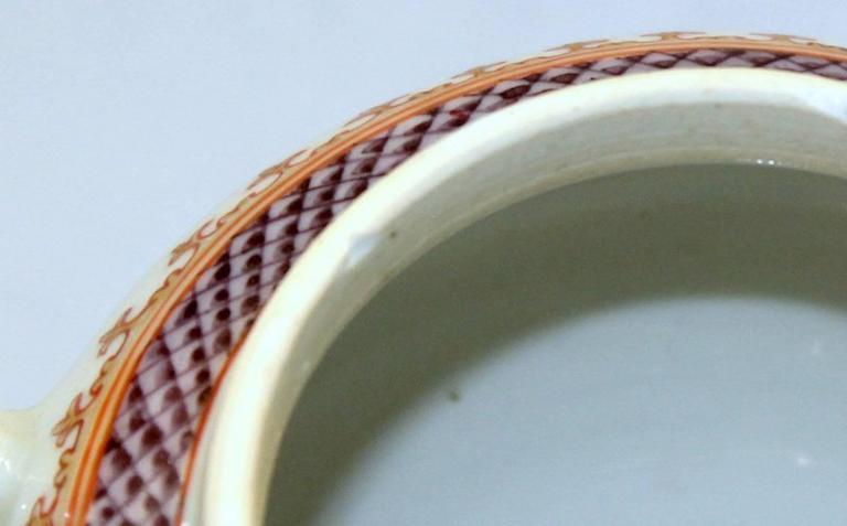 Antique Chinese Export Porcelain Famille Rose Decor Globular Teapot For Sale 5