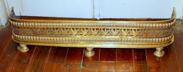 Antique English George III Pierced and Hand Engraved Brass ...