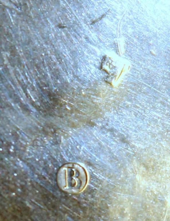 Antique Dutch Hand Engraved 833 Fine Silver Large Round Snuff Box For Sale 4