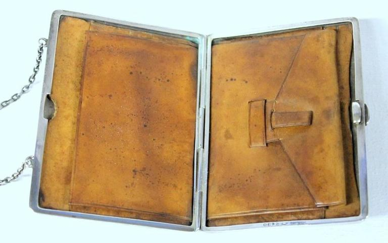 Antique American Hand Pierced and Engraved Sterling Card Case or Coin Purse For Sale 2