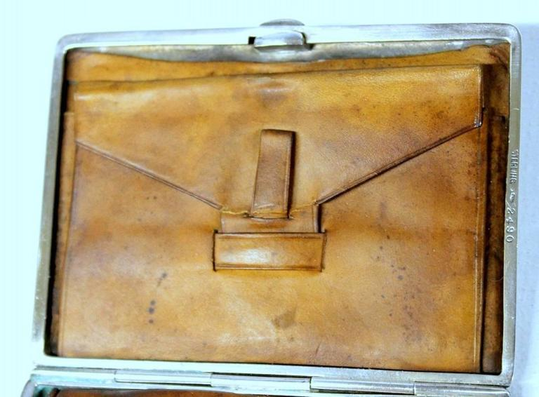 Antique American Hand Pierced and Engraved Sterling Card Case or Coin Purse For Sale 5