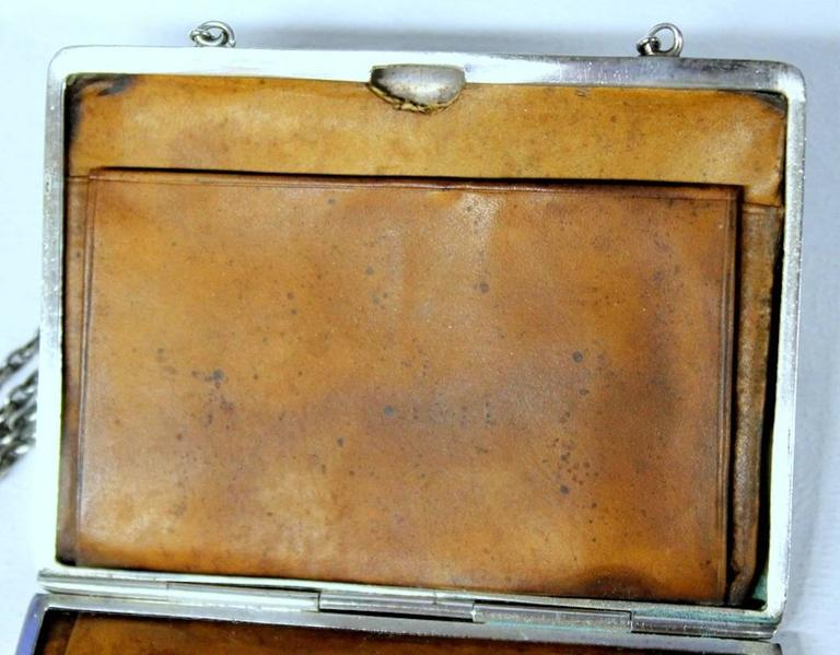Antique American Hand Pierced and Engraved Sterling Card Case or Coin Purse For Sale 4