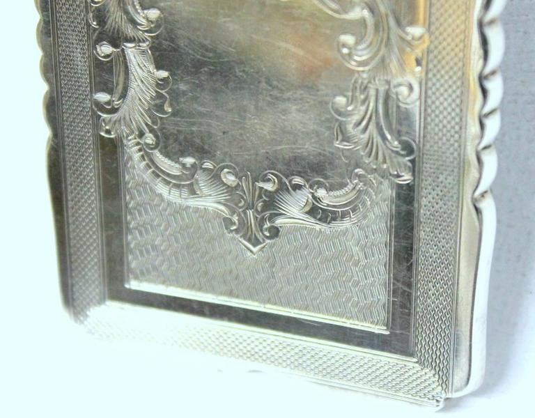 Antique American Hand Engraved .900 Fine Coin Silver Albert Coles Card Case For Sale 1
