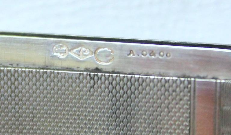 Antique American Hand Engraved .900 Fine Coin Silver Albert Coles Card Case For Sale 2