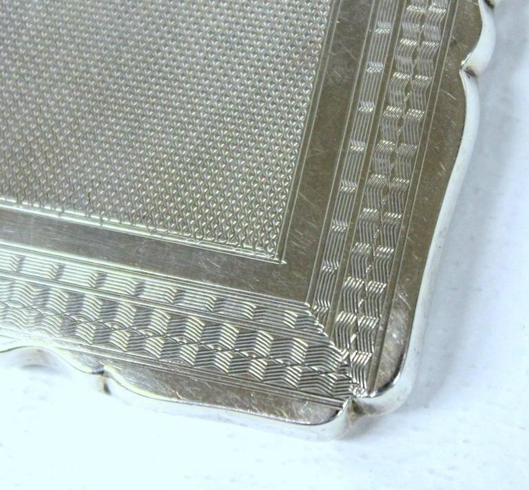 Antique American Hand Engraved .900 Fine Coin Silver Albert Coles Card Case For Sale 3