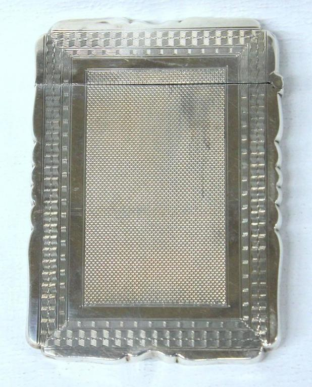 Antique American Hand Engraved .900 Fine Coin Silver Albert Coles Card Case For Sale 4