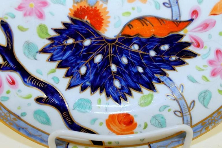 Set of Four Antique English Coalport Porcelain Luncheon or Dessert Plates In Excellent Condition For Sale In Charleston, SC