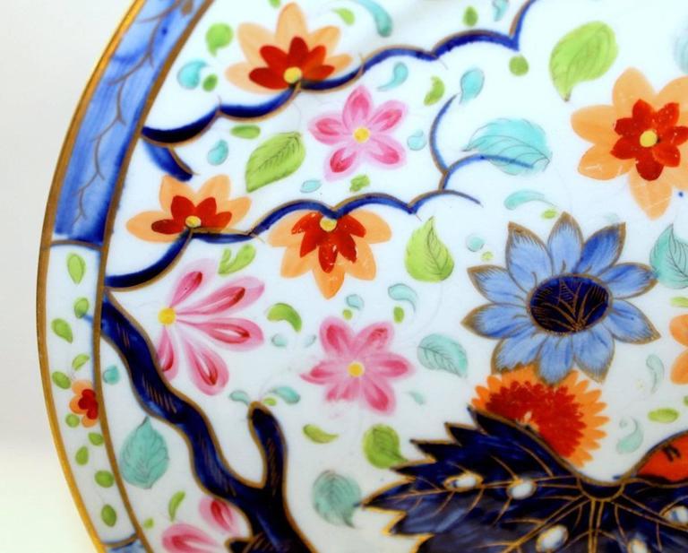 19th Century Set of Four Antique English Coalport Porcelain Luncheon or Dessert Plates For Sale