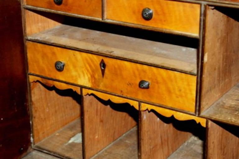 English 19th Century Sheraton Style Mahogany Clerk's Desk or Standing Desk For Sale 3