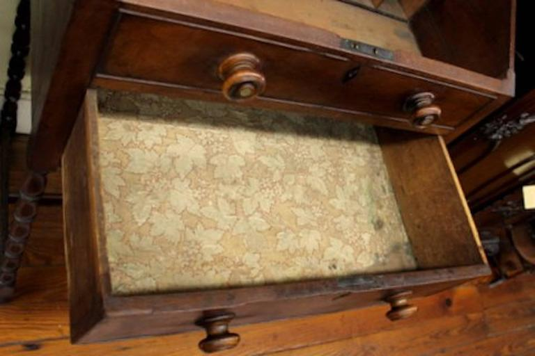 English 19th Century Sheraton Style Mahogany Clerk's Desk or Standing Desk For Sale 5