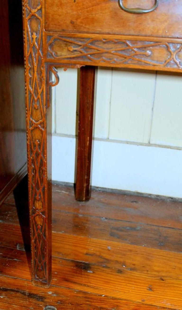 "Antique English George III ""Chinese Chippendale"" Bookcase or Display Cabinet 9"