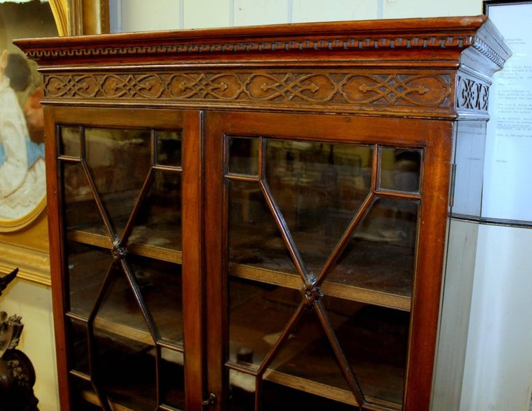 "Antique English George III ""Chinese Chippendale"" Bookcase or Display Cabinet 2"