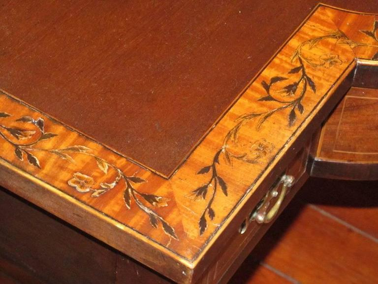 English Geo IV Marquetry Inlaid Mahogany Hepplewhite Huntboard or Server For Sale 6