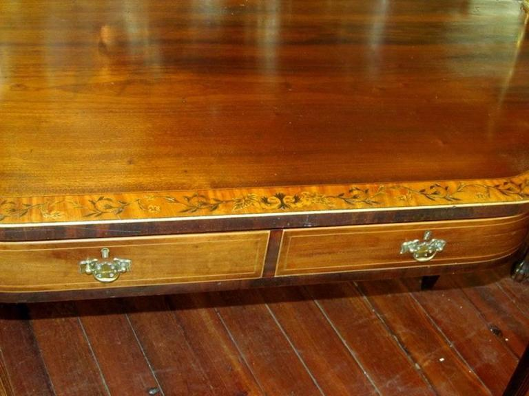 English Geo IV Marquetry Inlaid Mahogany Hepplewhite Huntboard or Server In Excellent Condition For Sale In Charleston, SC