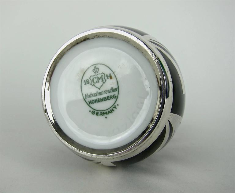 Spahr Sterling Silver Overlay Vintage Vase By