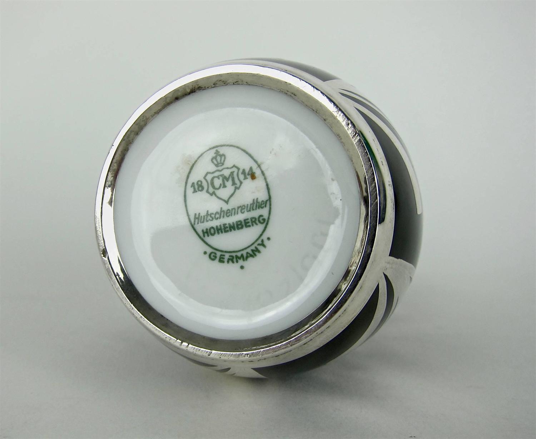 spahr sterling silver overlay vintage vase by hutschenreuther porcelain at 1stdibs. Black Bedroom Furniture Sets. Home Design Ideas