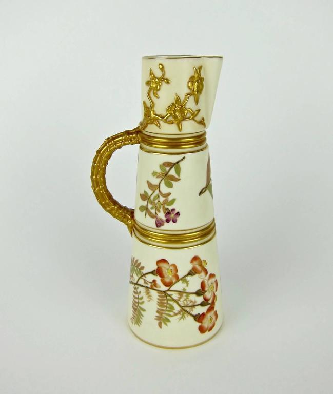 Antique English Royal Worcester Porcelain Ewer 1884 At 1stdibs
