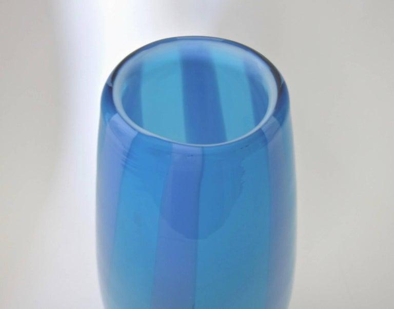 blue boda vase kosta vallien bertil for aqua vases by art galaxy glass