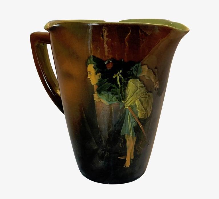 Anna Marie Valentien For Rookwood Pottery Samurai Standard