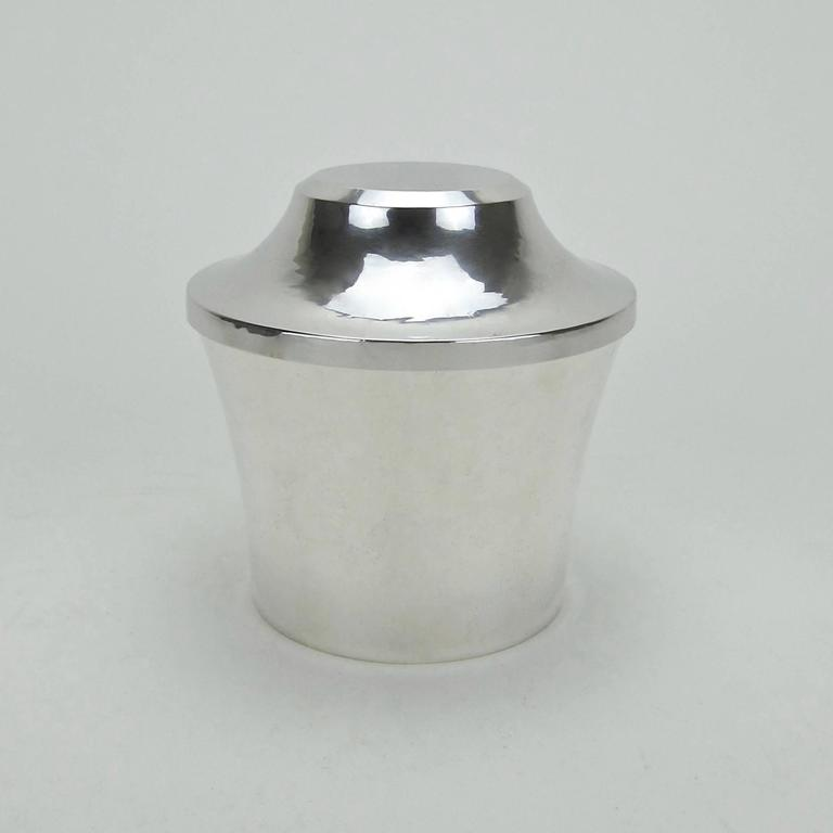 American Art Deco Sterling Silver Box by Marie Zimmermann In Good Condition For Sale In Los Angeles, CA